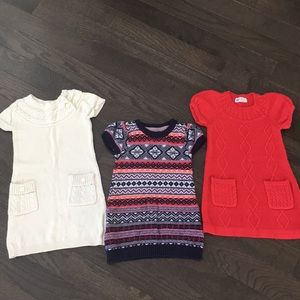 [Bundle] 2-4T Girl's Short-Sleeve Knit Dress